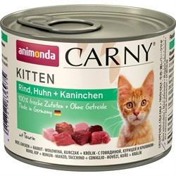 Animonda - Консервы для котят (с говядиной, курицей и кроликом) CARNY Kitten - фото 22212