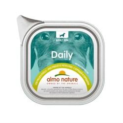 "Almo Nature - Консервы для собак ""Меню с курицей и горошком"" Daily Menu Chicken with Pease - фото 22372"