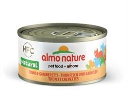 Almo Nature - Консервы для кошек, 75% мяса (с Тунцом и Креветками) Legend Adult Cat Tuna and Shrimps - фото 22402
