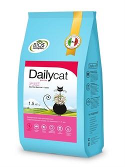 Dailycat - Беззерновой сухой корм для взрослых стерилизованных кошек (со свининой) Grain Free Adult Steri lite - фото 22584