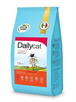 Dailycat - Беззерновой сухой корм для взрослых стерилизованных кошек (с индейкой) Grain Free Adult Steri lite - фото 22585