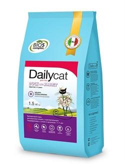Dailycat - Беззерновой сухой корм для взрослых стерилизованных кошек (с уткой и кроликом) Grain Free Adult Steri lite - фото 22587