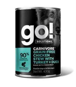 GO! Natural Holistic - Консервы беззерновые для собак (с тушеной курицей, индейкой и мясом утки) Grain Free Chicken Stew with Turkey + Duck DF - фото 22758