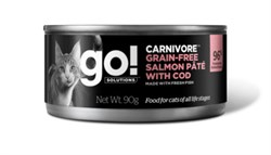 GO! Natural Holistic - Консервы беззерновые для кошек (с лососем и треской) Carnivore Grain Free Salmon Pate with Cod CF - фото 22775