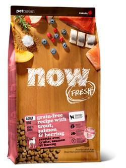 NOW Natural Holistic - Сухой корм беззерновой для взрослых собак для чувствительного пищеварения (с форелью и лососем) Grain Free Fish Adult Recipe - фото 23815