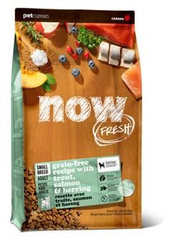 NOW Natural Holistic - Сухой корм беззерновой для взрослых собак малых пород (с форелью, лососем и овощами) Fresh Small Breed Recipe Fish Grain Free - фото 23823