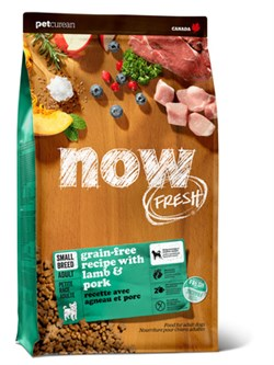 NOW Natural Holistic - Сухой корм беззерновой для взрослых собак малых пород (с ягненком и овощами) Fresh Small Breed Recipe Red Meat Grain Free - фото 23825
