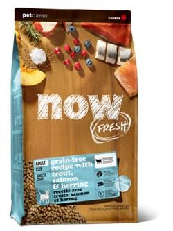NOW Natural Holistic - Сухой корм беззерновой для взрослых кошек для чувствительного пищеварения (с форелью и лососем) Grain Free Fish Adult Cat Recipe - фото 23827