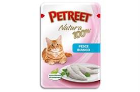 Petreet - Паучи для кошек (белая рыба) Natura 100%