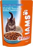 Iams - Паучи для взрослых кошек (с океанической рыбой в соусе) Cat Pouch