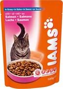 Iams - Паучи для взрослых кошек (с лососем в соусе) Cat Pouch