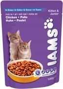 Iams - Паучи для котят (с курицей в соусе) Kitten Pouch