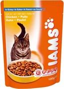 Iams - Паучи для взрослых кошек (с курицей в соусе) Cat Pouch