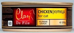 Clan De File - Консервы для кошек (курица) № 73
