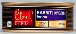 Clan De File - Консервы для кошек (кролик) № 74