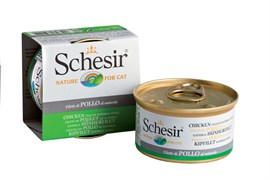 Schesir - Консервы для кошек (цыплёнок в собственном соку)