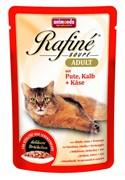 Animonda - Паучи для взрослых кошек (с индейкой, телятиной и сыром) Rafine Soupe Adult