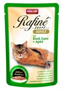Animonda - Паучи для взрослых кошек (с говядиной, мясом гуся и яблоком) Rafine Soupe Adult