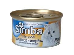 Simba Cat - Мусс для кошек (с цыпленком и индейкой) Mousse