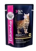 Eukanuba - паучи для взрослых кошек (с курицей в соусе) Adult Cat Top Condition with Chicken