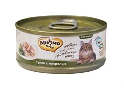 Мнямс - Консервы для кошек (тунец с макрелью в нежном желе)