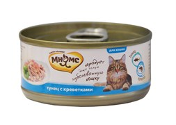 Мнямс - Консервы для кошек (тунец с креветками в нежном желе)