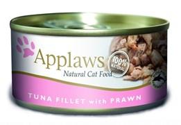Applaws - Консервы для кошек (филе тунца с креветками) Cat Tuna Fillet and Prawn
