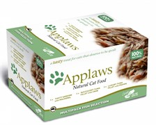 """Applaws - Набор для кошек """"Рыбное ассорти"""" (8 шт*60 г) Cat MP Selection Fish"""