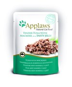 "Applaws - Паучи для кошек ""Кусочки тунца со скумбрией в желе"" Cat Pouch Tuna Whole Meat with Mackerel in Jelly"
