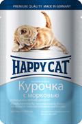 Happy Cat - Паучи для котят (с курицей и морковью)