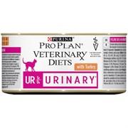 Purina Pro Plan - Консервы для кошек при болезнях нижних отделов мочевыводящих путей (c индейкой) Veterinary diets UR Mousse