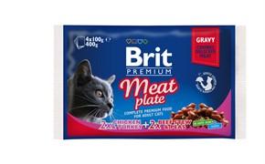 "Brit - Набор паучей для кошек ""Мясная тарелка"" (4 шт*100 г) Meat Plate"