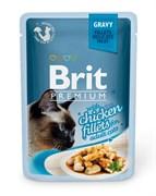 """Brit - Паучи для кошек """"Кусочки из куриного филе в соусе"""" GRAVY Chiсken fillets"""