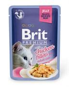 "Brit - Паучи для кошек ""Кусочки из куриного филе в желе"" JELLY Chiсken fillets"