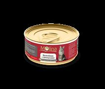 """Molina - Консервы для кошек """"Цыпленок с анчоусами в соусе"""""""