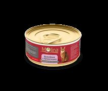 """Molina - Консервы для кошек """"Цыпленок с креветками в соусе"""""""