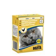 BOZITA - Консервы для кошек (кусочки в желе с куриной печенью) Tetra Pak Feline Chicken Liver