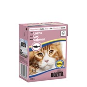 BOZITA - Консервы для кошек (кусочки в соусе с лососем) Feline Salmon Tetra Pak