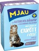 Mjau - Консервы для кошек (кусочки в желе с говяжим фаршем) Tetra Recart
