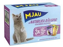 "Mjau - Набор паучей ""Мясное ассорти"" (12 шт*85 г) Multipack Meatmix"