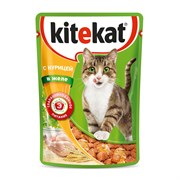 Kitekat - Паучи для кошек (с курицей в желе)