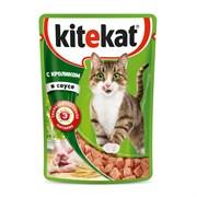 Kitekat - Паучи для кошек (с кроликом в соусе)