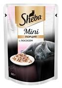 Sheba - Паучи для кошек (Мини порция с лососем)