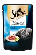 Sheba - Паучи для кошек (с тунцом и лососем) Pleasure