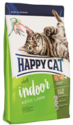 Happy Cat - Сухой корм для домашних кошек «Пастбищный ягненок» Adult Indoor