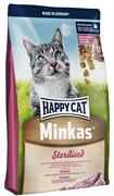 Happy Cat - Сухой корм для кастрированных котов Minkas Sterilised