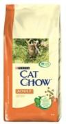 Purina Cat Chow - Сухой корм для взрослых кошек (с домашней птицей и индейкой)