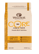Wellness Core - Cухой беззерновой корм для кастрированных котов и кошек (с курицей и индейкой) Sterilised