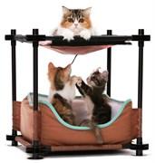"Kitty City - Лежак для кошек Барские покои ""Cozy Bed"", 44*45*45см"