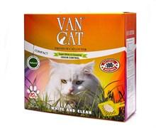 Van Cat - Наполнитель комкующийся без пыли для кошек (100% натуральный) коробка, Natural